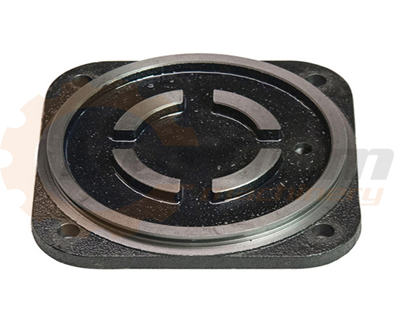 High quality ductile iron casting parts, high volume end cover of pump
